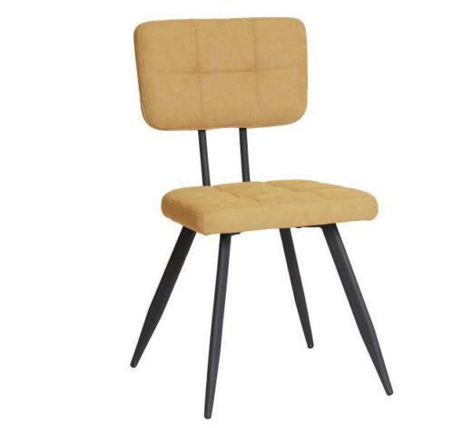 silla arena americana retro vintage piel sintetica patas metal 612SI0335