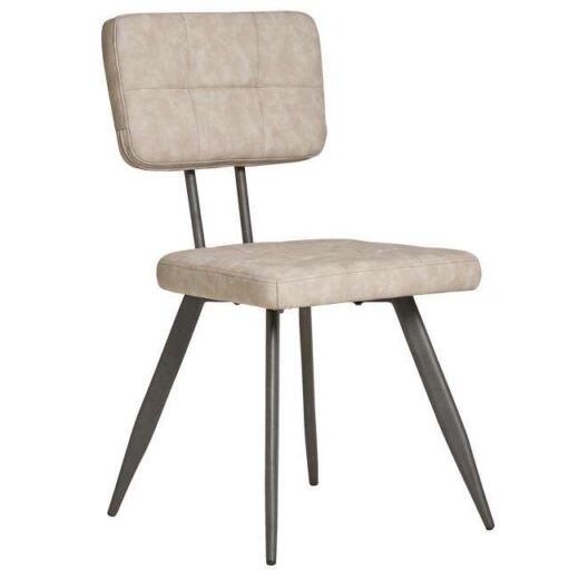 silla piedra americana retro vintage piel sintetica patas metal 612SI0331