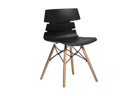 silla negro comedor escandinavo asiento polipropileno original 612SI0054