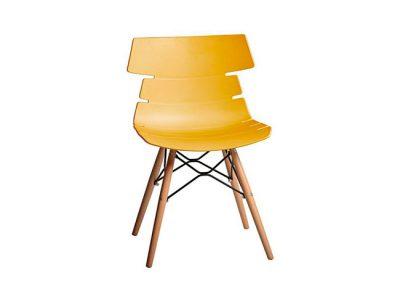Silla comedor con patas estilo escandinavo y asiento de polipropileno original