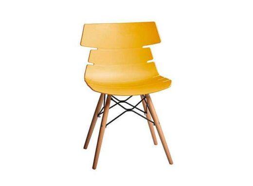 silla amarillo comedor patas escandinavo asiento polipropileno orginal 612SI0052