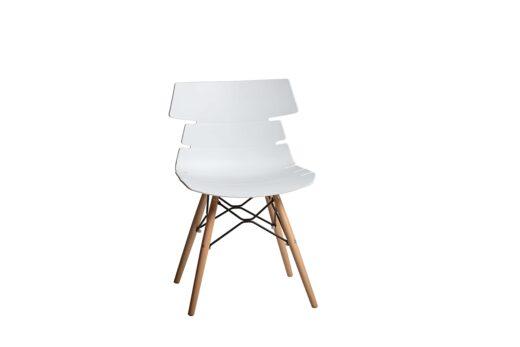 silla blanco comedor patas escandinavo asiento polipropileno orginal 612SI0051