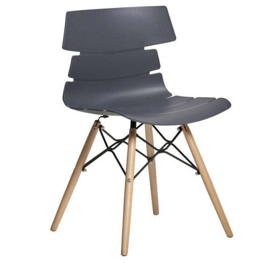 silla comedor gris patas escandinavo asiento polipropileno orginal 612SI0053