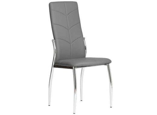 silla gris comedor respaldo alto piel moderna 612SI0551