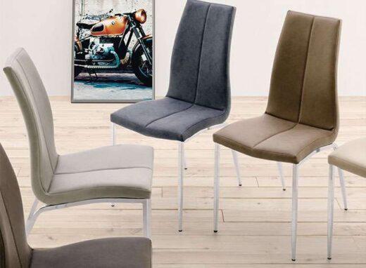 silla comedor tapizada 4 patas mate ergonomica 054SI0012