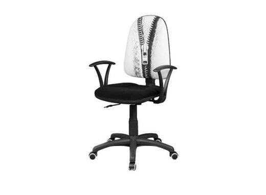 silla con respaldo y ruedas elevable acolchado estudio 162ES0071