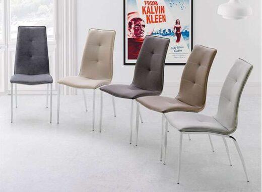 silla africa cromada y tapizado salon 054SI007