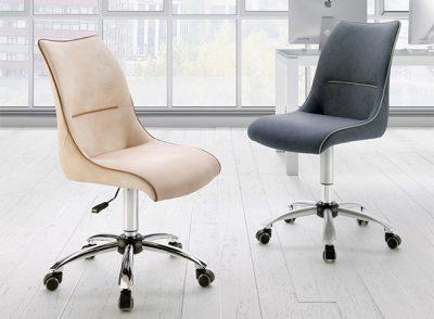 Silla despacho con ruedas y tapizada moderna y elegante