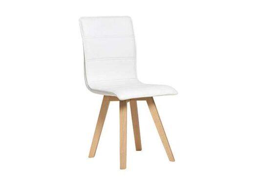 acolchado silla madera