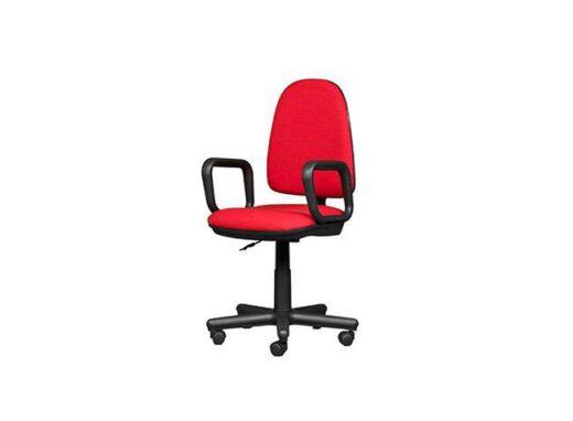 silla roja escritorio giratoria con ruedas 162ES0122