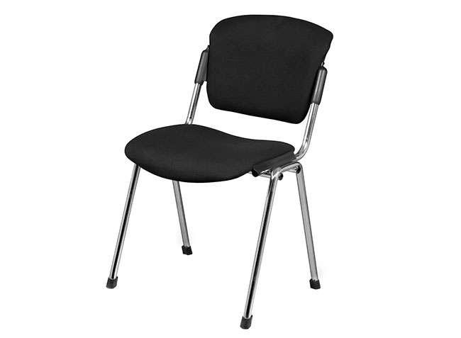 silla de escritorio sin ruedas tapizada aplilable modelo era