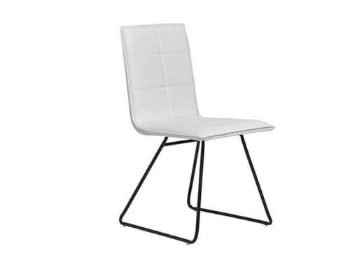 silla blanca industrial tapizada asiento rectangular 612SI0434