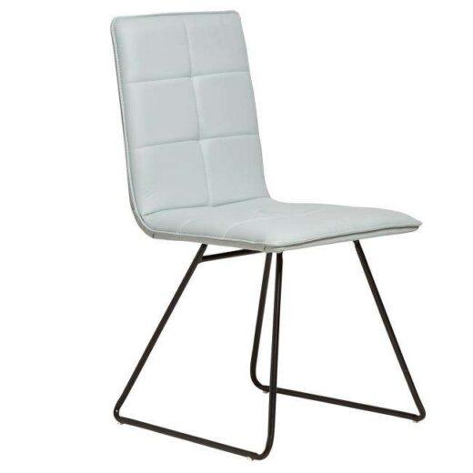 silla gris industrial tapizada asiento rectangular 612SI0435