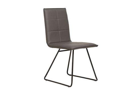 silla tapizada industrial asiento rectangular gris antracita 612SI0433