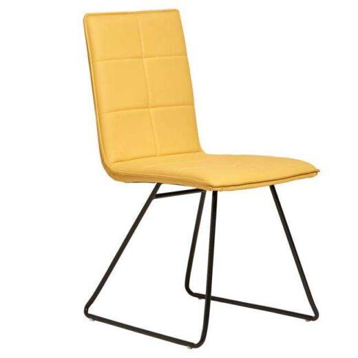 silla mostaza industrial tapizada asiento rectangular 612SI0431