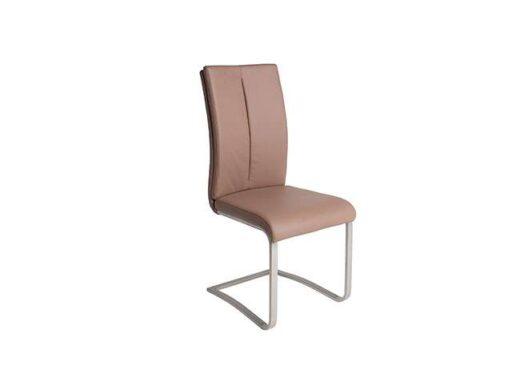 silla moderna acolchado capuchino piel pata voladiza 612SI0652