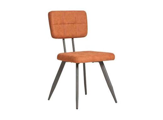 silla americana mostaza retro vintage piel sintetica patas metal 612SI0336