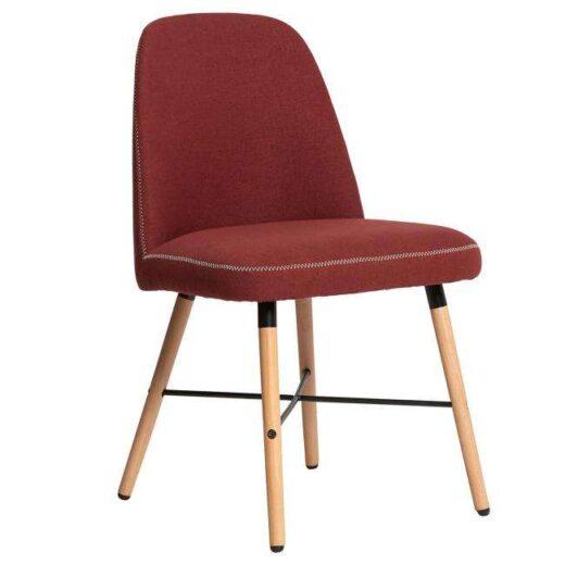 silla mullida pespunte-contorno-patas-madera-nordico-burdeos-612SI0243