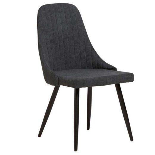 silla elegante negra patas metalicas salon 612SI0164