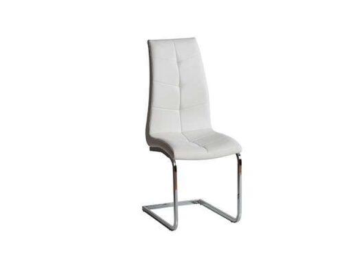 silla blanco pata voladiza acero tapizado con costuras original 612SI0641