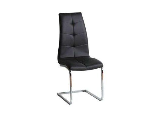 silla negro pata voladiza acero tapizado con costuras original 612SI0642