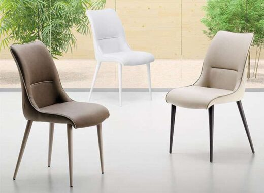 silla polipiel color ribete distinto comedor 054SI0101