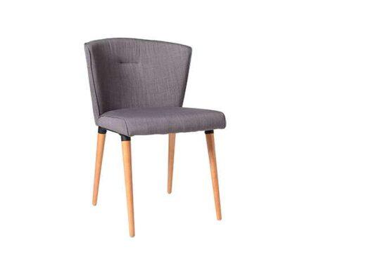 silla revestida gris 4 patas madera contemporaneo nordico 612SI0312