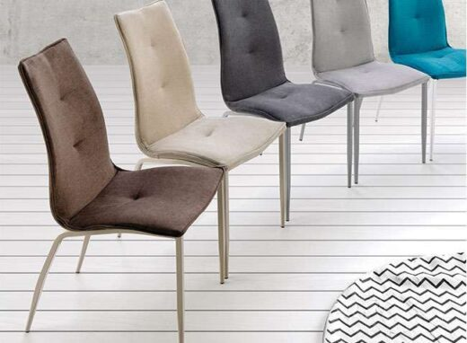 silla ergonomica salon comedor tapizado antimanchas patas mate 054SI008