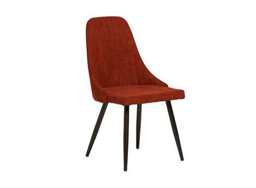 silla elegante salon tela patas metalicas negras comedor burdeos 612SI0161