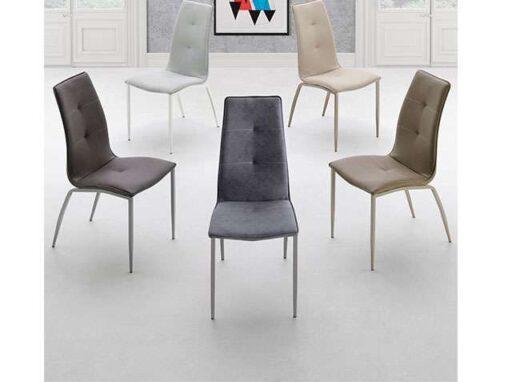 silla africa tapizado patas mate 054SI006