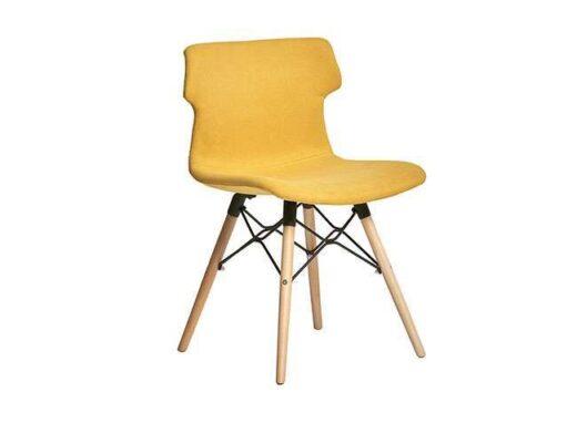 sillas amarilla nordicas tapizadas colores 612SI0281