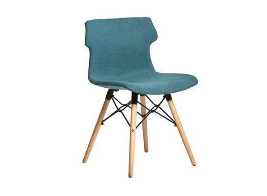 sillas turquesa nordicas tapizadas colores 612SI0282
