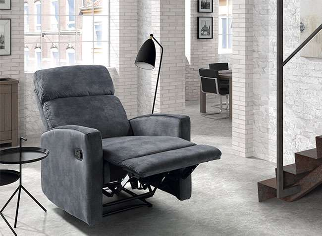 Sill n relax manual moderno modelo alaska color gris - Sillon relax moderno ...