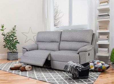 Sofá 3 plazas con sistema relax manual