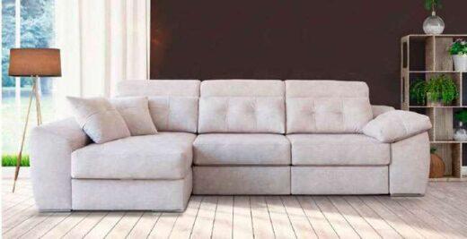 sofa moderno beig chaise longue 083QU001