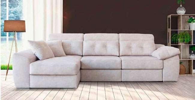 sofa beig moderno chaise longue 083QU001