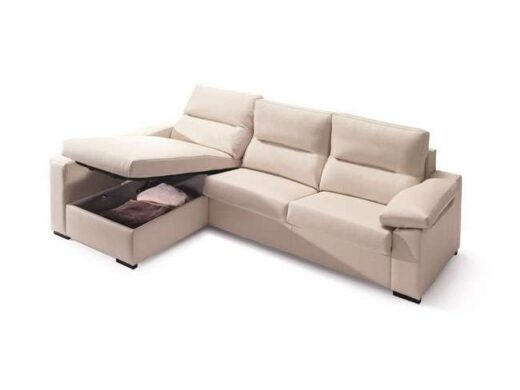 Sofá cama chaise longue con arcón tres plazas (Personalizable) on chaise recliner chair, chaise furniture, chaise sofa sleeper,