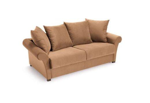 sofa cama chester liso 3 plazas moderno cafe 004CA0063