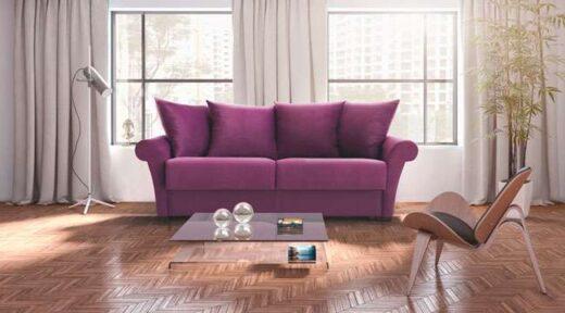 sofa cama violeta moderno chester liso 3 plazas 004CA0061