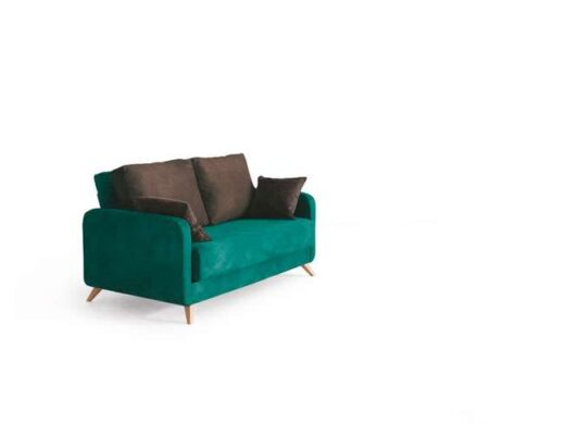 sofa cama nordico 2 plazas verde con patas 004CA0054