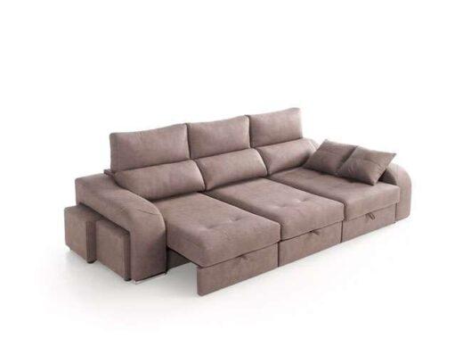 sofa cheslong asientos deslizantes puffs integrados arcon 083QU0082
