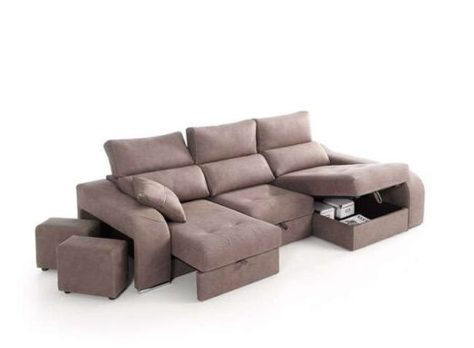 sofa cheslong arcon asientos deslizantes puffs integrados 083QU0081