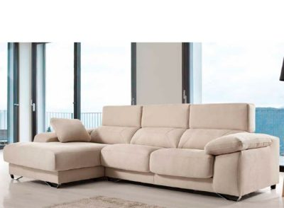 Sofá cómodo y moderno con cheslong deslizante
