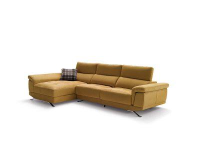 Sofá mostaza chaise longue viscoelástico (Disponible en gran variedad de colores)