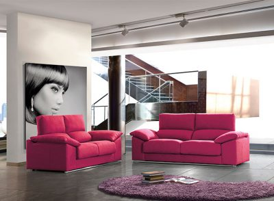Sofá reclinable 3 plazas de 2 asientos extraíbles