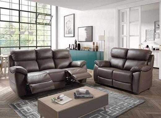 sofa piel 3 plazas electrico relax milan 252CH0031