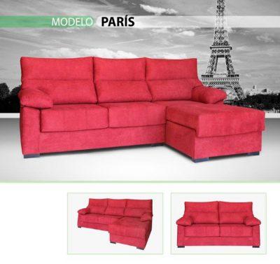 Sofá chaise longue fucsia