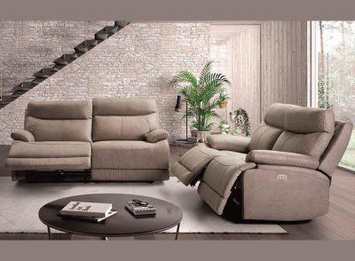 Sofá 3 plazas relax eléctrico