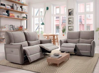 Sofá acolchado 2 asientos de 3 plazas relax eléctrico
