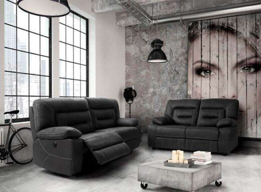 sofa gris oscuro relax 252oporto